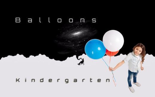 Balloons kindergarten billboard