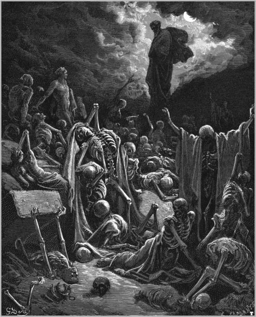 The vision of the valley of the dry bones - Gustave Doré