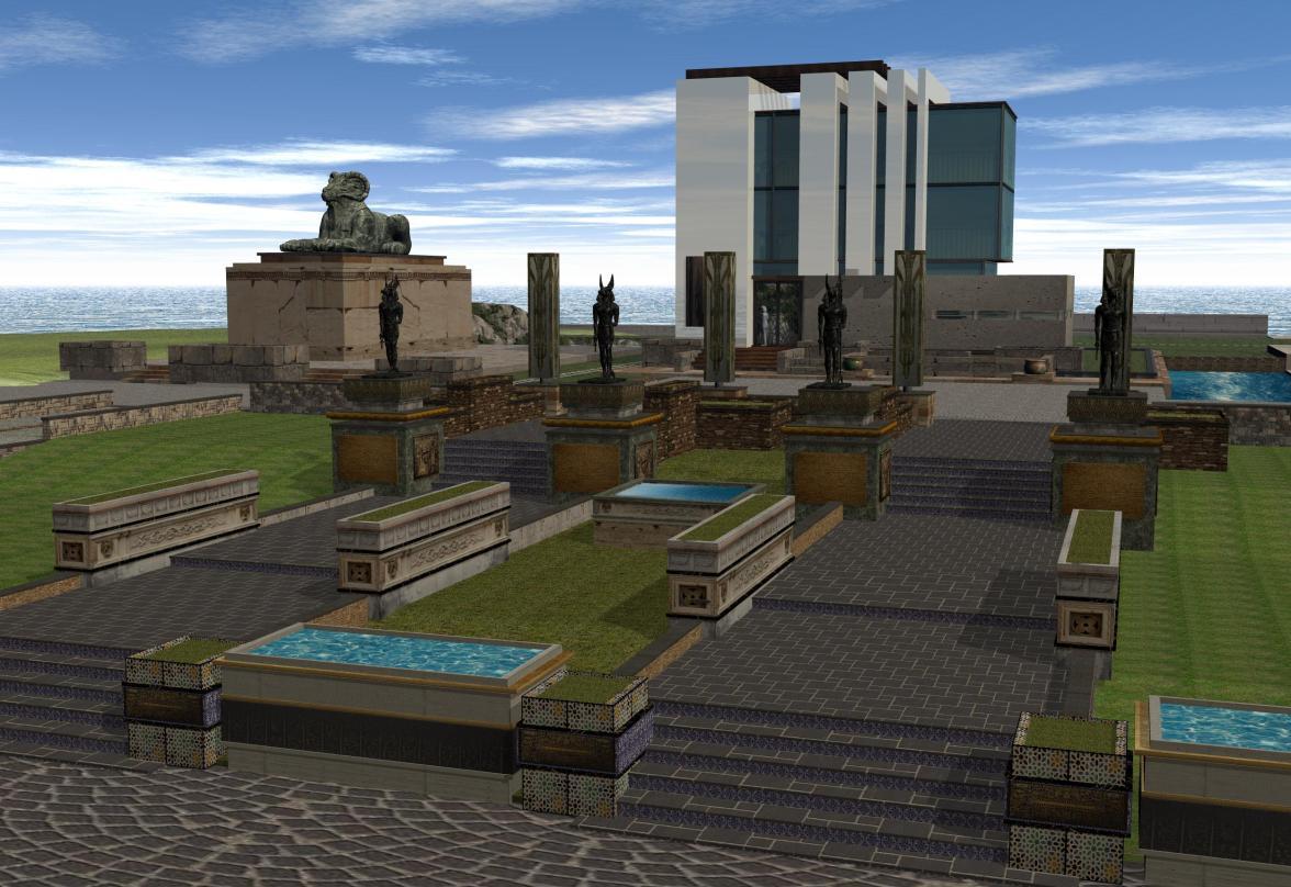 'Isle of Anubis' gardens - 2