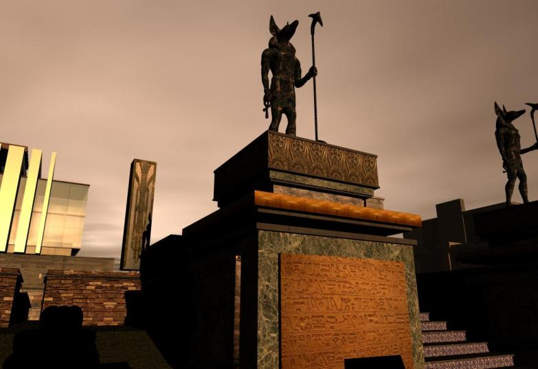'Isle of Anubis' statues - 1